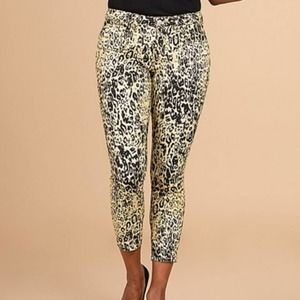 Royalty For Me Tan Cheetah Skinny Cropped Jeans